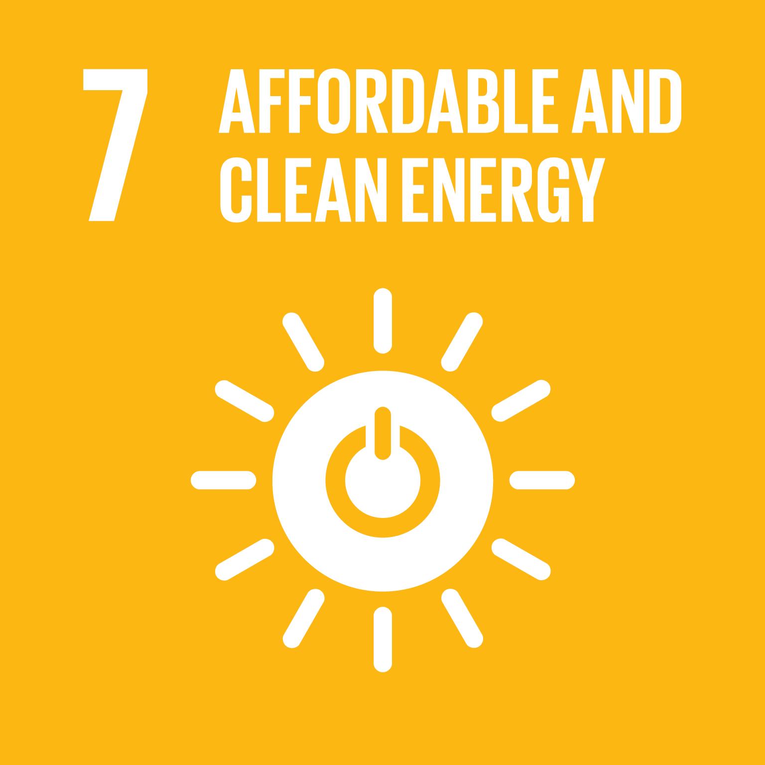 SDG Goal #7 Affordable Energy