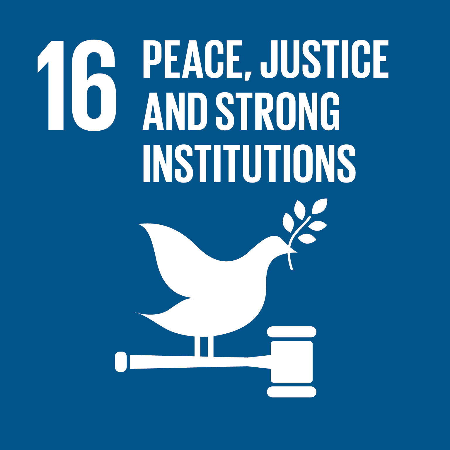 SDG Goal #16 Peace, Justice, and Strong Institutions